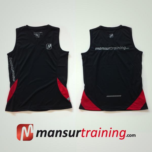 Running shirt black